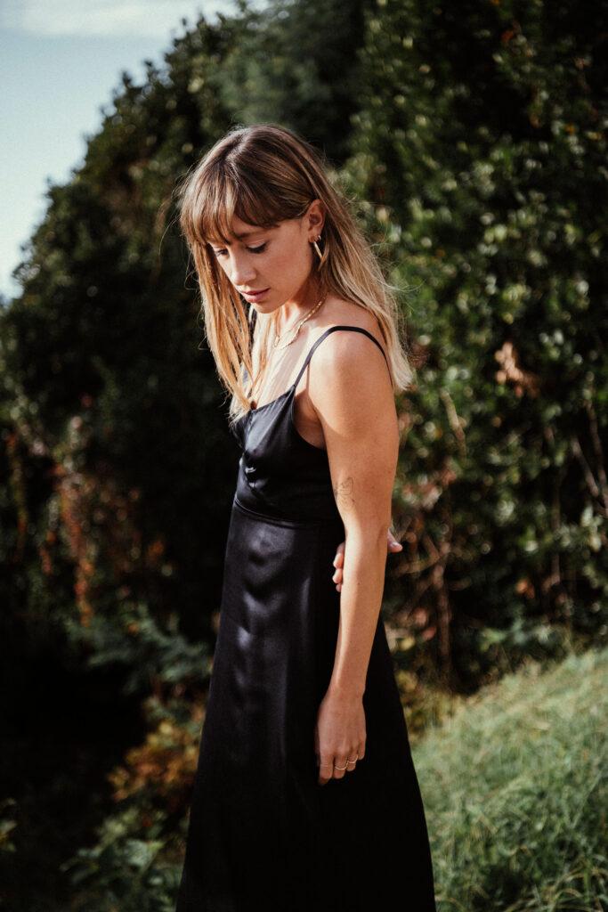 vestido seda orgánica